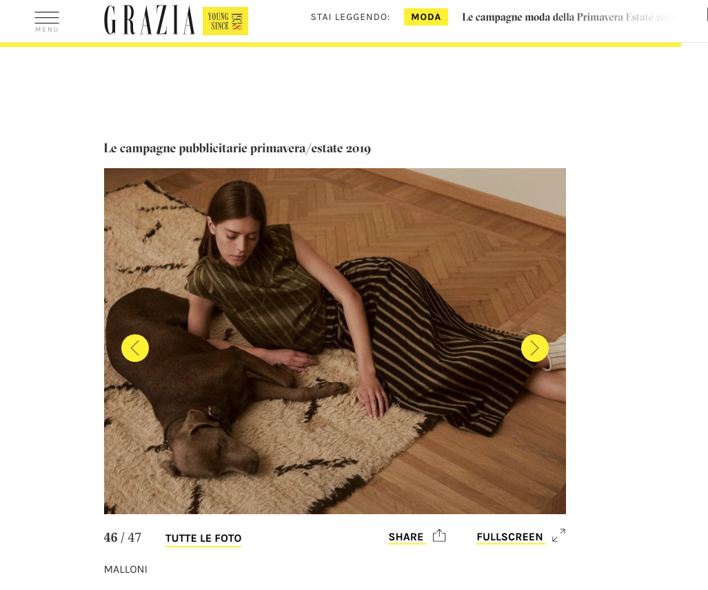 MALLONI on GRAZIA.IT